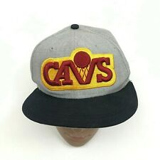 VINTAGE New Era Cleveland Cavaliers Hat Cap Size 7 1/8 Fitted Hardwood Classics