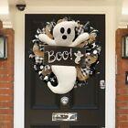 Halloween Wreath BOO Large Front Door Ghost Wreaths Halloween Decoration New2021