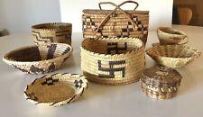 New listing 8 Native American Baskets - No Reserve Fresh from Fenske Coll Albq Nm