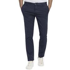 Pantalone MCS MARLBORO CLASSICS uomo estivo cotone elasticizzato blu slim fit
