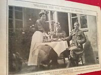 m12l ephemera 1914 picture ww1 french lady entertains british highlanders