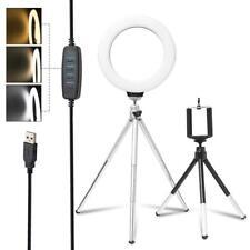 Anillo de luz LED de Estudio Foto Video Lámpara Luz Regulable Trípode Selfie Cámara Teléfono