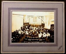 Vintage PHOTO METHODIST CHURCH ORCHESTRA BAND BELLINGHAM WASHINGTON old USA FLAG