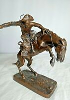 Vintage Broncho Buster by Frederic Remington Bronze Sculpture 1988 Collection