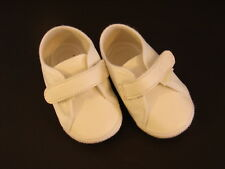 Baby Deer Vintage Deadstock Darling White Soft Crib Shoes Girls Boys Size 1 NOS