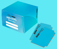 Ultra Pro DUAL LIGHT BLUE 180 card DECK BOX NEW MTG standard size gaming Pokemon