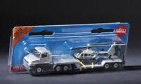 Siku 1610 Low Loader Polizei Helicopter Truck Diecast Model