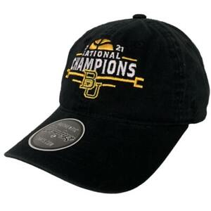 Baylor Bears 2021 NCAA Basketball National Champions Black Adj. Crew Hat Cap