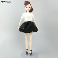 """Fashion Doll Clothes For 11.5"""" Doll Outfit White Top Shirt Black Skirt For Blyth"""