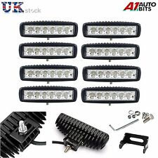 8X 18W 10-30V LED Work Lights Bar Spot Light Driving Lamps Offroad Car Truck SUV