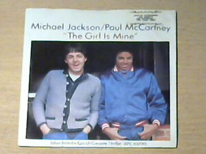 "7"" MICHAEL JACKSON & PAUL McCARTNEY (THE BEATLES) * The Girl Is Mine (MINT-)"
