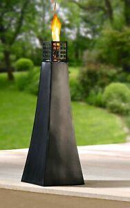 Große Metall Öllampe XXL Gartenfackel Lampe Garten Laterne Windlicht Feuer
