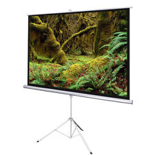 """120"""" Portable Projector Screen 4:3 Projection Matte White Foldable Tripod Stand"""