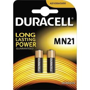 Duracell Security MN21 23AE 23A A23 V23GA 12v Alkaline Battery - Pack Of 2