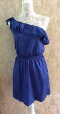 NWT Chelsea & Violet Women's Dress Blue One Shoulder Ruffle Size XS