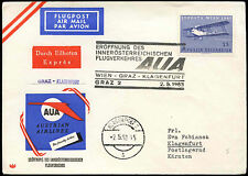 Austria 1963 FFC First Flight Cover, Graz-Klagenfurt #C16812