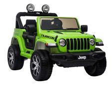Kinder Elektroauto Jeep Wrangler Rubicon Green 12V  Kinderfahrzeug Kinderauto