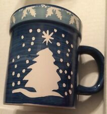 Gibson Giant Coffee Mug With Chtistmas Tree And Star by Julie Ingleman