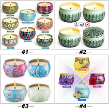 4/8 PCS Scented Natural Soy Wax Candle Gift Set Aromatherapy Tea Light For Home