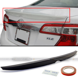 Fit 12-14 Toyota Camry LE SE XLE JDM Style ABS Unpainted Trunk Wing Lip Spoiler