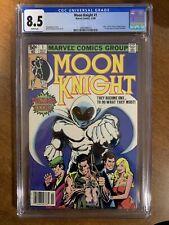 🔥Moon Knight 1 (1980) - Newsstand - CGC 8.5 - Origin Moon Knight - 1st Bushman