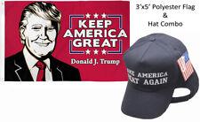 3'x5' Donald J Trump Keep America Great & Make America Great Navy Blue White Hat