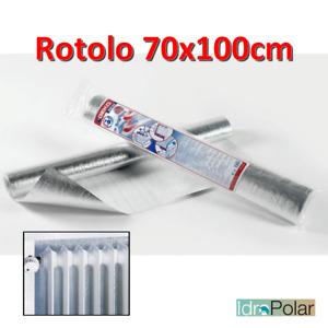 REFLEX PANNELLO TERMO RIFLETTENTE ALLUMINIO PER CALORIFERO ROTOLO 100x70 cm