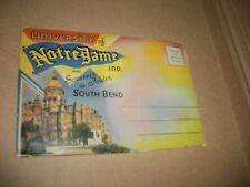 NOTRE DAME SOUTH BEND SOUVENIR PHOTO FOLDER POST CARDS 1930'S