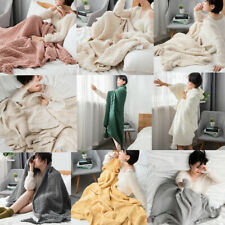 Soft Knitted Blanket Throw Thread Blanket Thick Home Office Sofa Bed Warm