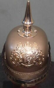 Halloween Prussian Helmet German Leather Pickelhaube Helmet With Line
