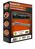 Peugeot 307 car stereo radio, Kenwood CD MP3 Player with Front USB AUX In