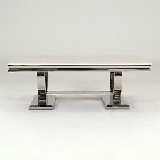 New Stunning Rani Marble & Chrome `O` Coffee Table
