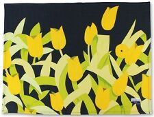 ALEX KATZ 'Yellow Tulips' Tea Towel Screenprint on Linen Artist Multiple **NEW**