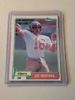 1981 Topps Football Joe Montana Rookie Card #216 Set Break! w/Free Dwight Clark