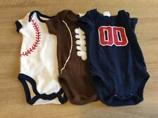3 Starting Out  (3 Months) Sport Themed One Piece Outfits - Great Condition