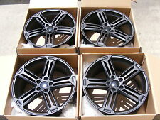 NEW SET 19x8 GOLF R STYLE WHEELS RIM SET 5x112 ET42 +42 BLACK FIT AUDI TT A3 Q3
