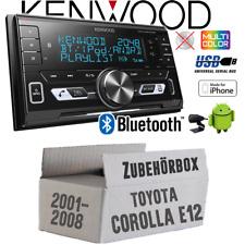 Kenwood Autoradio für Toyota Corolla E12/120 Bluetooth/USB/VarioColor Einbauset