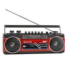 PORTABLE OLD SCHOOL HIFI AUDIO BOOMBOX PARTY MUSIK SYSTEM MINI ANLAGE MP3 SD USB