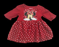 Disney Minnie Mouse Toddler 2T Dress Summer Red Authentic