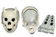 Aluminium Skeleton Skull Chopper Bobber Head Light Unit With 2 Fixing Brackets