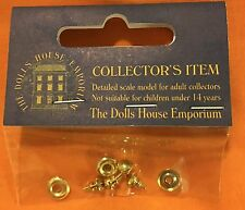 Dolls House Emporium - Four Sets of Victorian Knob & Back Plate - 9644