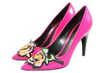 Louis Vuitton Sz 38.5 Stephen Sprouse Roses Patent Hot Pink Pumps Heels Shoes