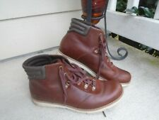 womens Timberland earthkeeper brown leather ankle boots sz 9