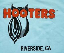 Hooters Riverside California Souvenir T-shirt Tacky Classic White Men Small $30