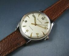 Vintage Bulova Duo Wind  Stainless Steel Automatic Mens Watch 17J 10AUC 1950