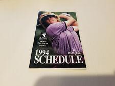 LPGA 1994 Women's Golf Pocket Schedule Booklet - Rolex