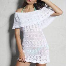 FOGGI Damenkleid Minikleid  Kleid Sommerkleid Partykleid Strandkleid XS S M #F34