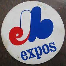 Montreal Expos Kleen-Stick 1970's Team Logo Sticker