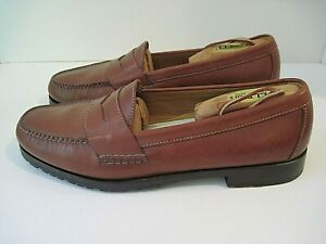 """COLE HAAN British Tan Leather """"Grand Classic Penny Loafers"""" Size 12 D, Excellent"""