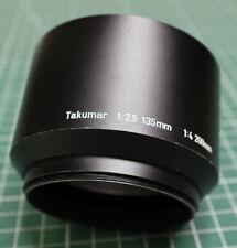Asahi Pentax Takumar 135mm 1:2.5 200mm 1:4 paraluce lens hood